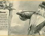 Illustration femme sonneur premières sociétés de trompe de chasse