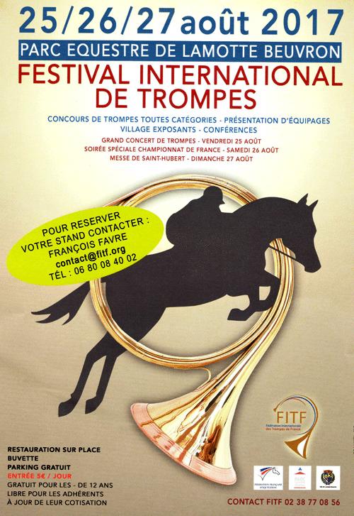 Affiche concours de trompes