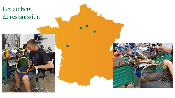 Ateliers de restauration de trompe de chasse en France