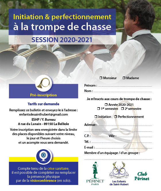 Visuel Formation trompe session 2020/2021